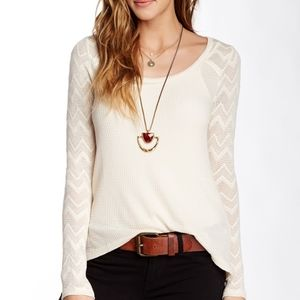 Lucky Brand Thermal Lace Top